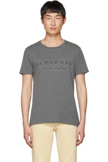Burberry - Grey Devoré Logo Martford T-Shirt