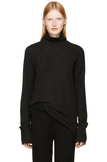 Ann Demeulemeester - Black Toulouse Turtleneck