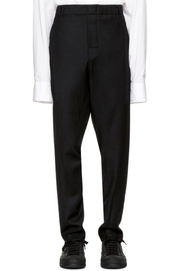 Ann Demeulemeester - Black Elastic Waist Trousers