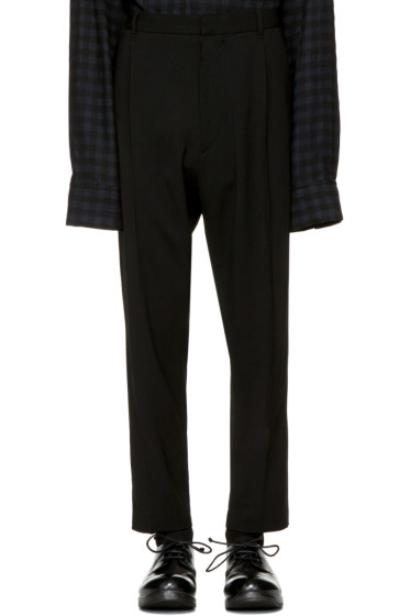 Ann Demeulemeester - Black Classic Pleat Trousers