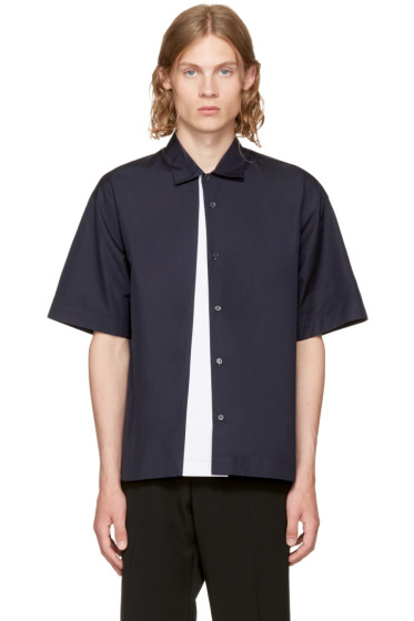 Marni - Navy Panelled Sport Shirt