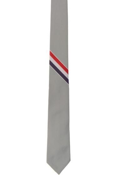 Thom Browne - Grey Stripe Classic Tie