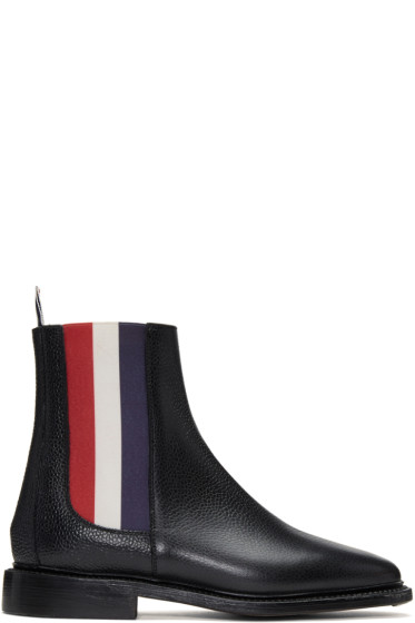 Thom Browne - Black & Tricolor Chelsea Boots