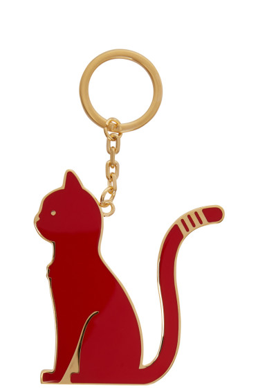 Thom Browne - Black & Red Thom Cat Keychain