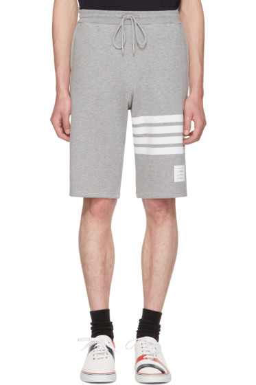 Thom Browne - Grey Classic Four Bar Lounge Shorts