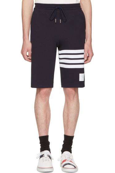 Thom Browne - Navy Classic Four Bar Lounge Shorts