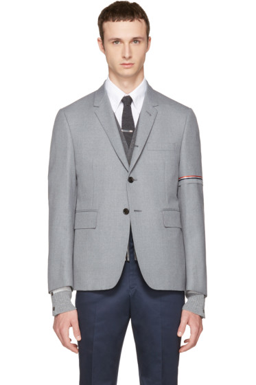 Thom Browne - Grey Selvedge Blazer
