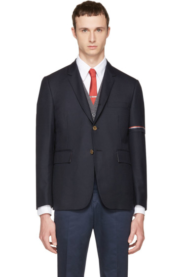 Thom Browne - Navy Selvedge Blazer