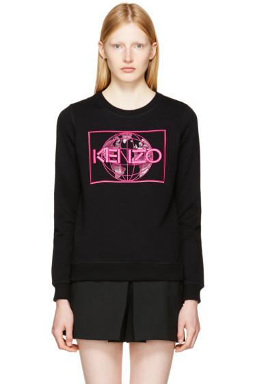 Kenzo - ブラック ワールド ロゴ スウェットシャツ