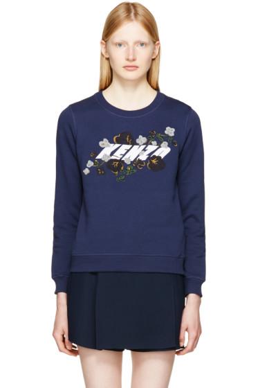 Kenzo - ネイビー ロゴ スウェットシャツ