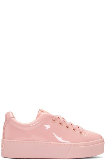 Kenzo - Pink Patent K-Lace Platform Sneakers