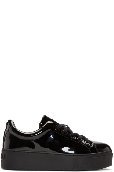 Kenzo - Black Patent K-Lace Platform Sneakers