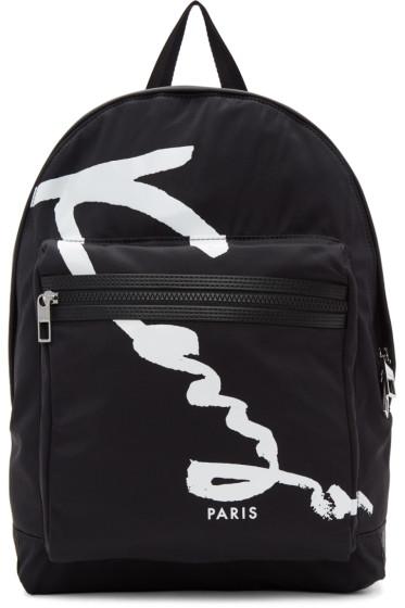 Kenzo - Black Signature Logo Backpack