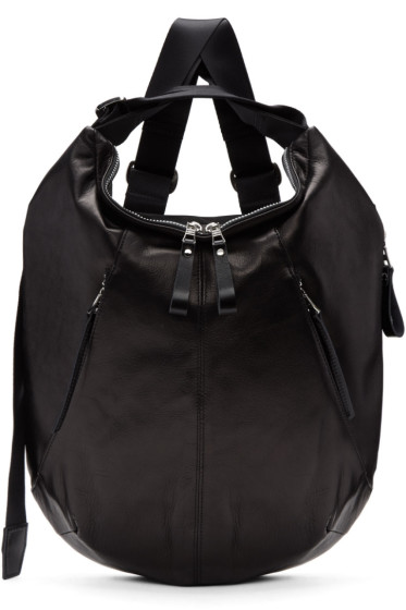Master-Piece Co - Black Leather Wispy Backpack