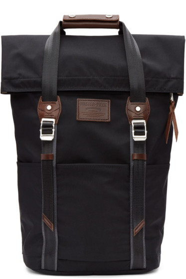Master-Piece Co - Black Two Buckles Backpack