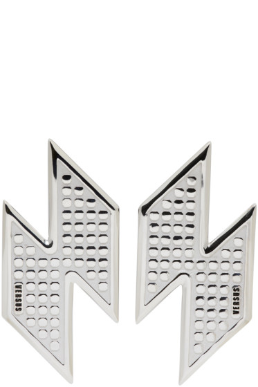 Versus - Silver Lightning Bolt Earrings