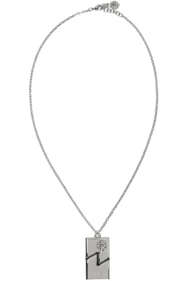 Versus - Silver Dog Tag Necklace