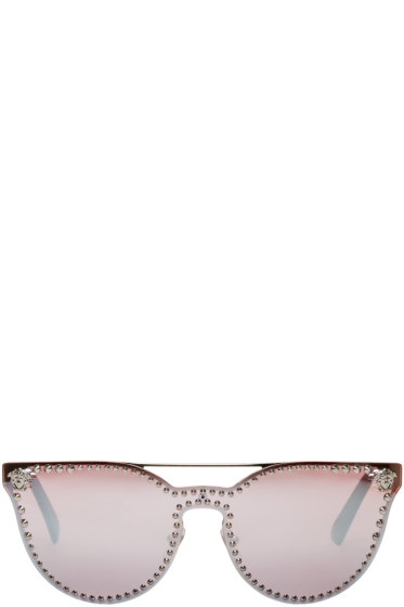 Versace - Silver Rock Icons Medusa Studded Sunglasses