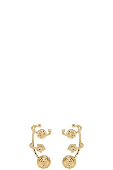 Versace - Gold Medusa Multi Cuff Earrings