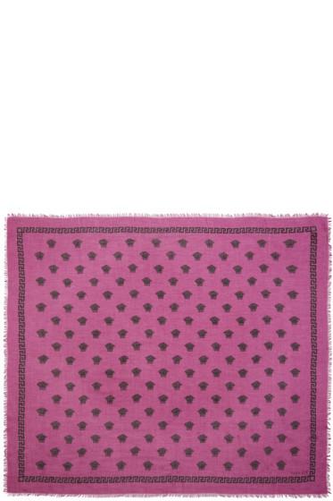 Versace - Pink & Black Medusa Modal Scarf