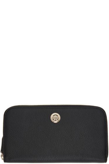 Versace - Black Medusa Zip Around Wallet