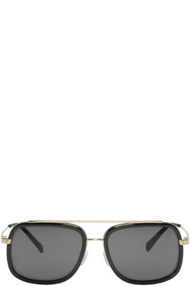 Versace - Black Pop Chic Greca Aviator Sunglasses