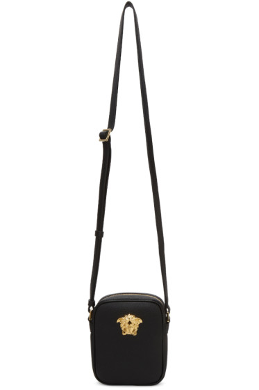 Versace - Black Small Medusa Messenger Bag