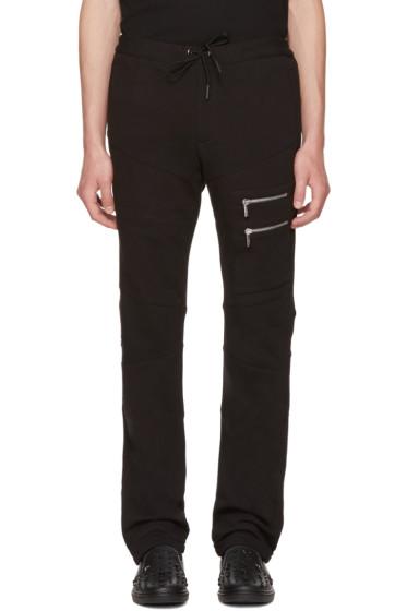 Versace - Black Multi-Zipper Lounge Pants