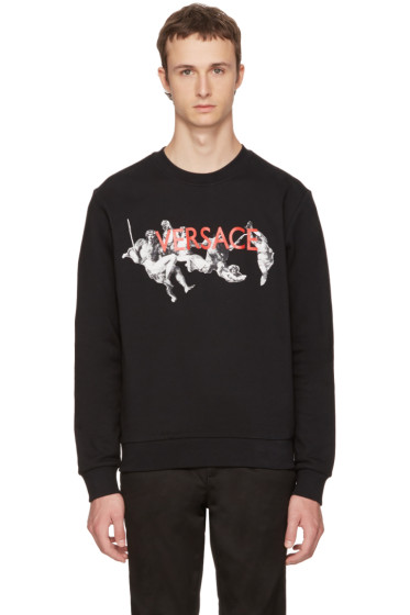 Versace - Black Statue Logo Sweatshirt