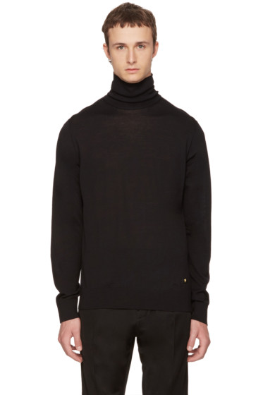 Versace - Black Wool Turtleneck