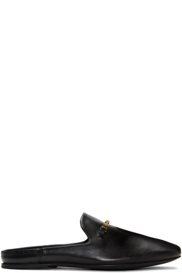 Versace - Black Chain Slip-On Loafers