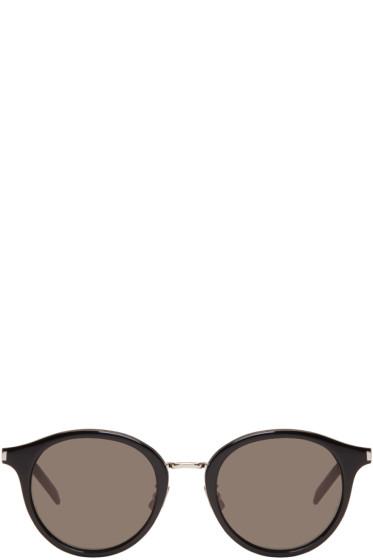 Saint Laurent - Black & Silver SL 57 Pantos Sunglasses