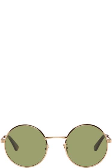 Saint Laurent - Gold SL 136 Zero Retro Sunglasses