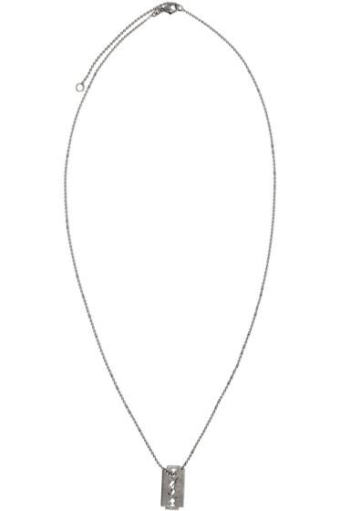 Saint Laurent - Silver Razor Logo Necklace