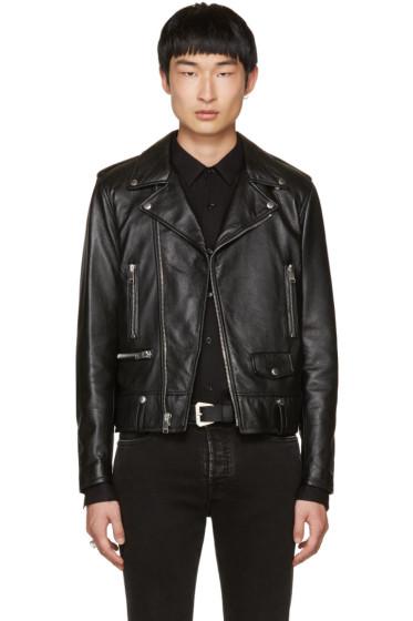 Saint Laurent - Black Leather Blood Luster L01 Jacket