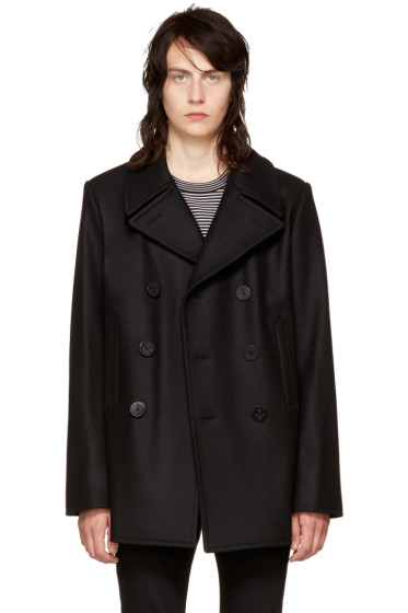 Saint Laurent - Black Classic Peacoat