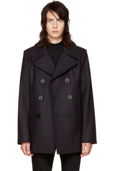 Saint Laurent - Navy Classic Peacoat
