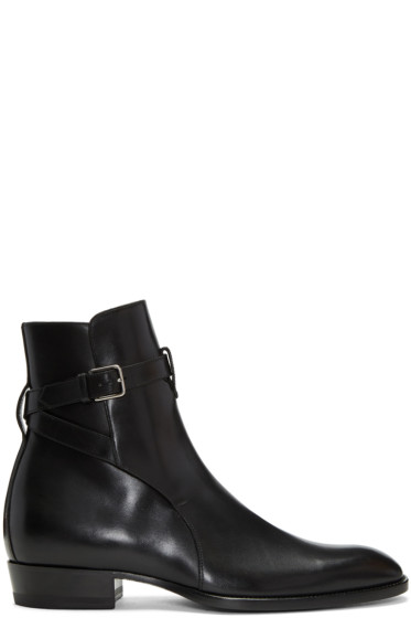 Saint Laurent - Black Wyatt Jodhpur Boots