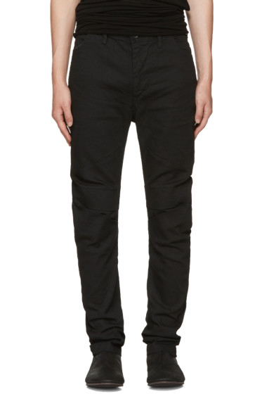 Julius - Black Indirect Arched Jeans
