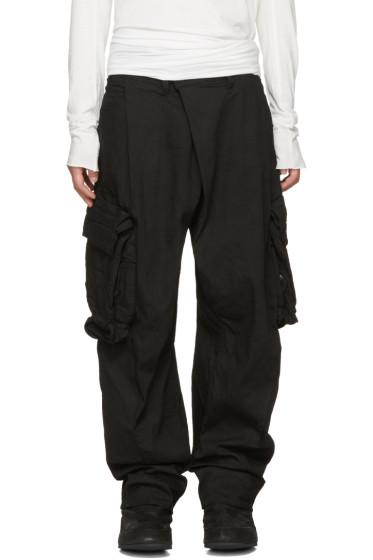 Julius - Black Gas Mask Cargo Pants