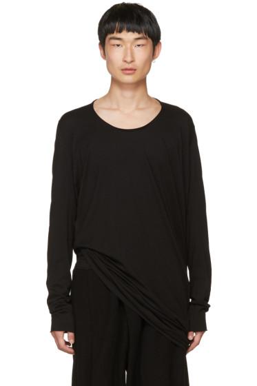 Julius - Black Cut & Sewn T-Shirt