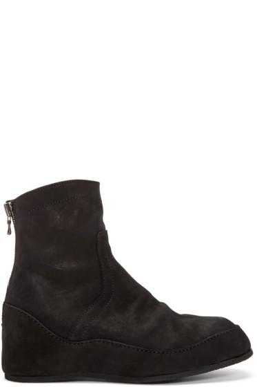 Julius - Black Nubuck Engineer Boots