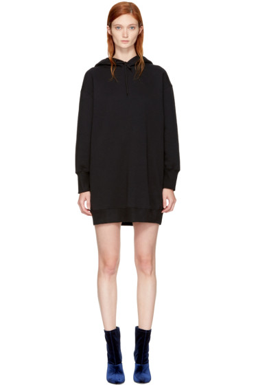 MSGM - Black Oversized Hoodie Dress