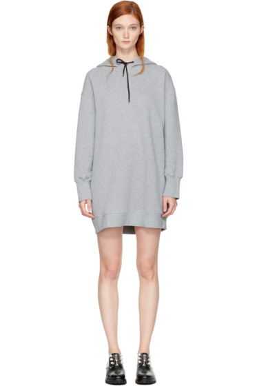 MSGM - Grey Oversized Hoodie Dress