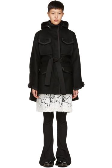 Sacai - Black Wool Coat