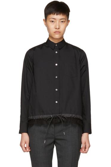 Sacai - Black Drawstring & Lace Shirt