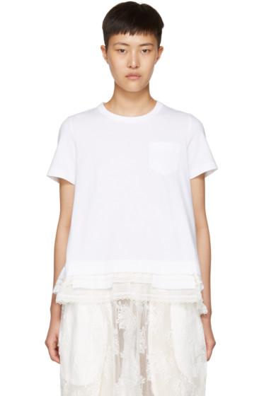 Sacai - White Layered T-Shirt