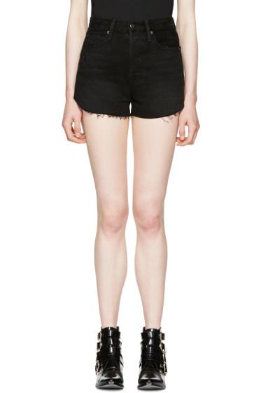 Frame Denim - Black Le Original Tulip Shorts