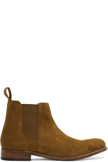 Grenson - Tan Suede Declan Boots
