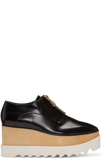 Stella McCartney - Black Elyse Zip-Up Platform Derbys